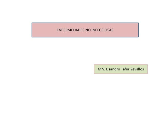 ENFERMEDADES NO INFECCIOSAS                   M.V. Lisandro Tafur Zevallos