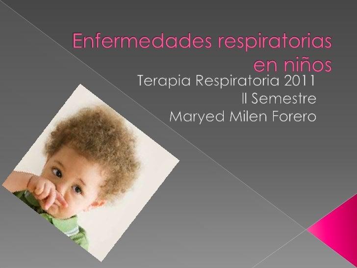 Enfermedades respiratorias en niños sarita