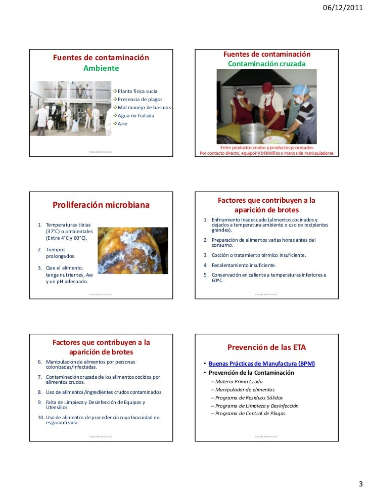 Enfermedades transmitidas por alimentos - Fuentes de contaminacion de los alimentos ...