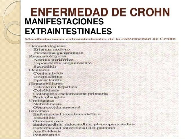 ENFERMEDAD DE CROHN MANIFESTACIONES EXTRAINTESTINALES