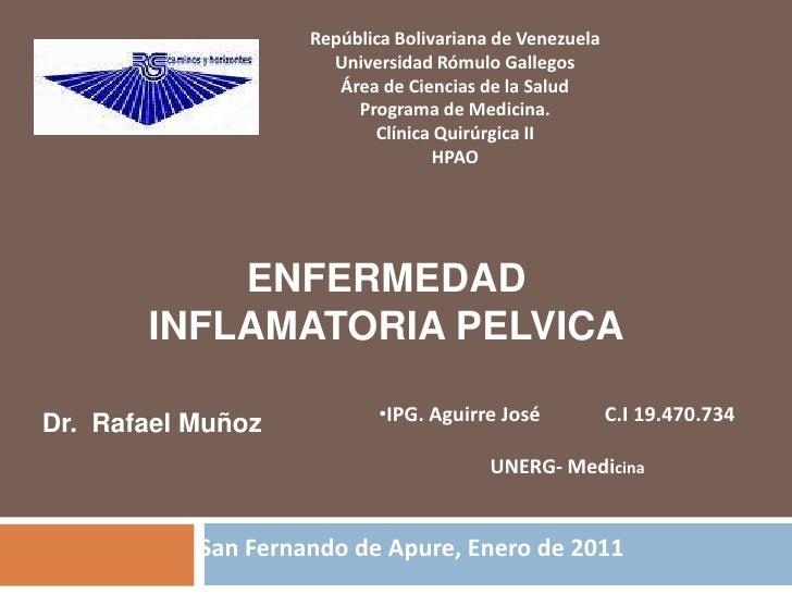 República Bolivariana de VenezuelaUniversidad Rómulo GallegosÁrea de Ciencias de la SaludPrograma de Medicina.Clínica Quir...