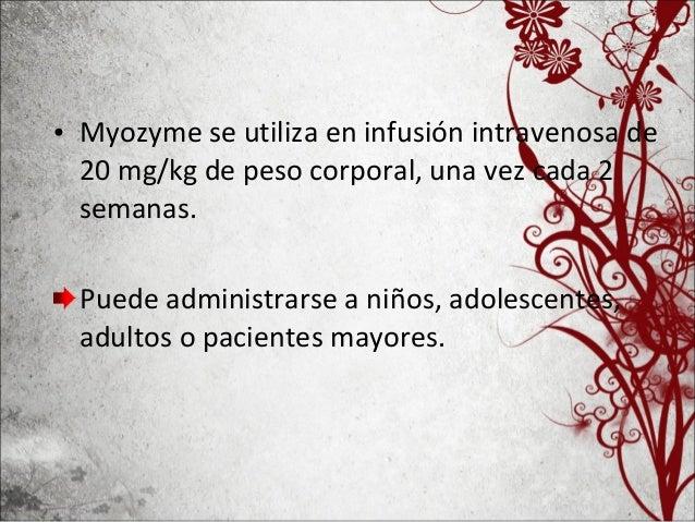 El principio activo de Myozyme, alglucosidase alfa, es una copia de la enzima humana, producida por un método conocido com...