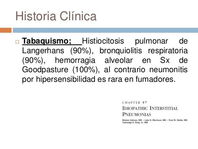Sintomatología Disena progresiva, el síntoma mas común Tos, en afección de vías aéreas pequeñas, ocon patrón broncocentr...