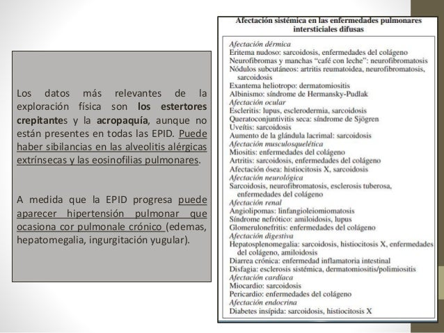 PATRONES RADIOGRÁFICOS RELACIONADOS CON LAS EPID SON:  vidrio deslustrado,  nodulillar,  reticular,  reticulonodulilla...