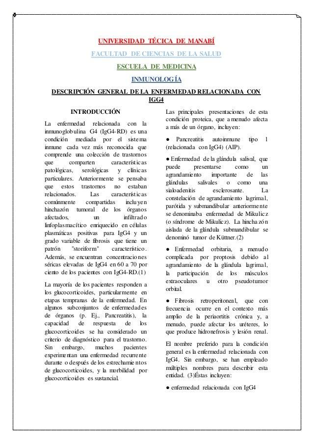UNIVERSIDAD TÉCICA DE MANABÍ FACULTAD DE CIENCIAS DE LA SALUD ESCUELA DE MEDICINA INMUNOLOGÍA DESCRIPCIÓN GENERAL DE LA EN...