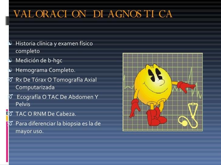 VALORACION DIAGNOSTICA <ul><li>Historia clínica y examen físico completo </li></ul><ul><li>Medición de b-hgc </li></ul><ul...