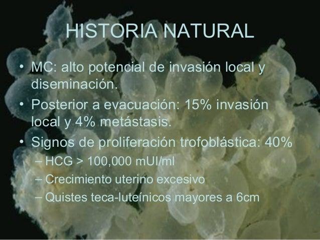 HISTORIA NATURAL • MC: alto potencial de invasión local y diseminación. • Posterior a evacuación: 15% invasión local y 4% ...