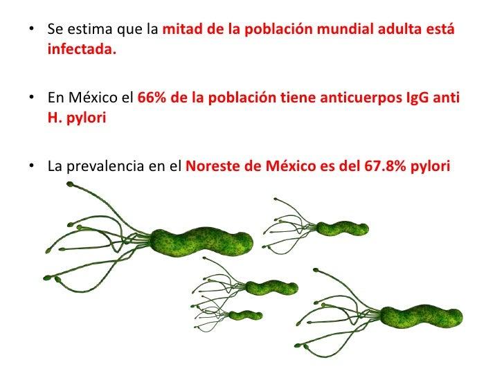 Se estima que la mitad de la población mundial adulta está infectada. <br />En México el 66% de la población tiene anticue...