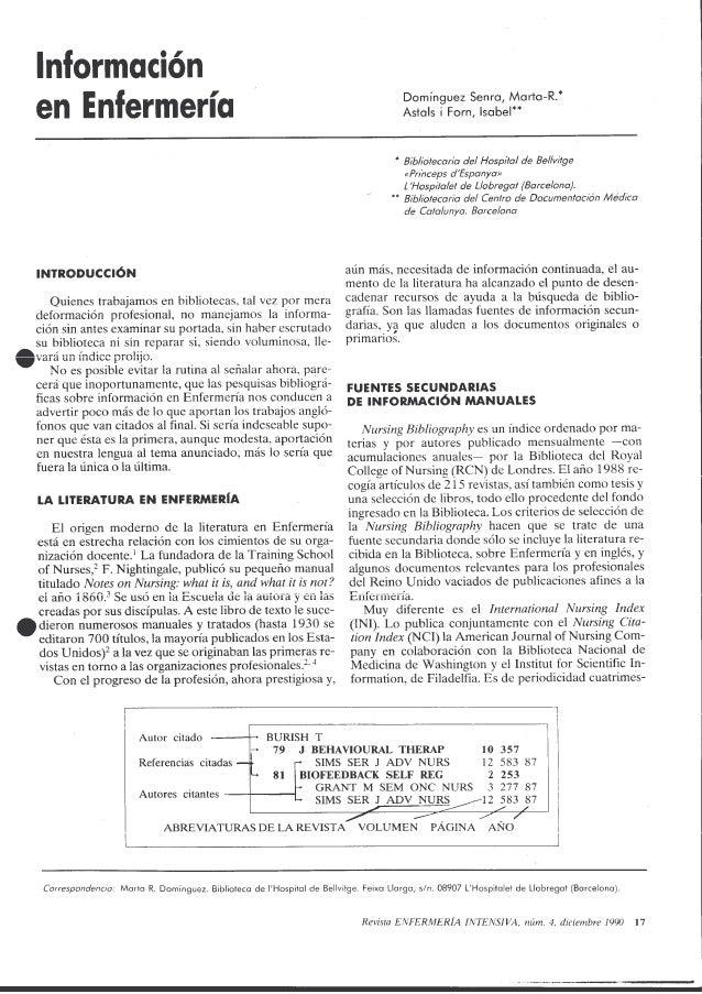 Información en Enfermería: del libro de texto al hipertexto