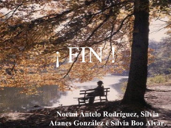 ¡ FIN ! Noemi Antelo Rodríguez, Silvia Atanes González e Silvia Boo Alvar.