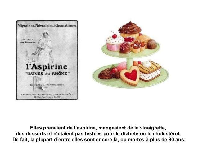 Elles prenaient de l'aspirine, mangeaient de la vinaigrette, des desserts et n'étaient pas testées pour le diabète ou le c...