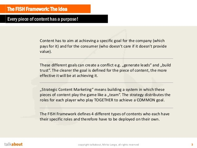 The FISH-Framework & the Content Radar Slide 3