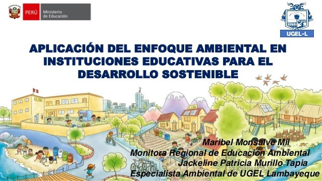 APLICACIÓN DEL ENFOQUE AMBIENTAL EN INSTITUCIONES EDUCATIVAS PARA EL DESARROLLO SOSTENIBLE Maribel Monsalve Mil Monitora R...