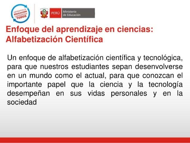 ' Ministerio de Educación  Enfoque del aprendizaje en ciencias:  Alfabetización Científica     Un enfoque de alfabetizació...