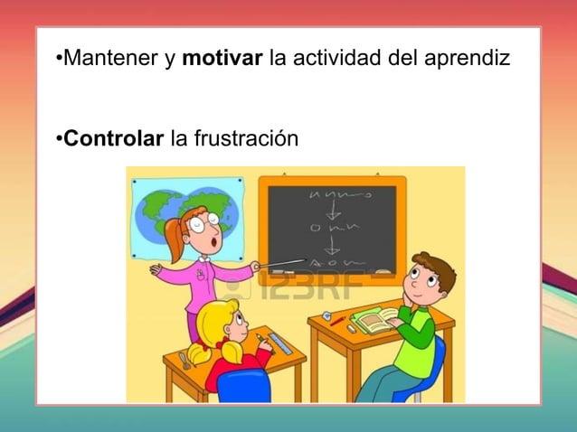 •Mantener y motivar la actividad del aprendiz •Controlar la frustración