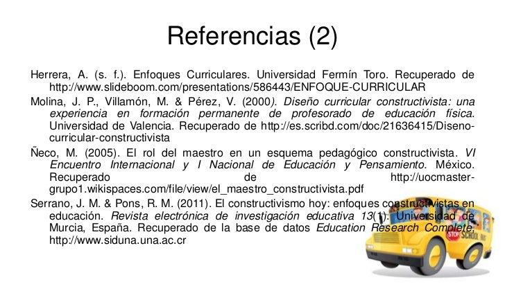 Enfoque curricular constructivista ppp for Diseno curricular nacional 2016 pdf