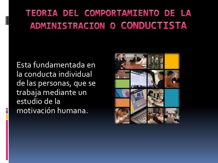 Enfoque del comportamiento de la administracion diapositivas (2) Slide 2