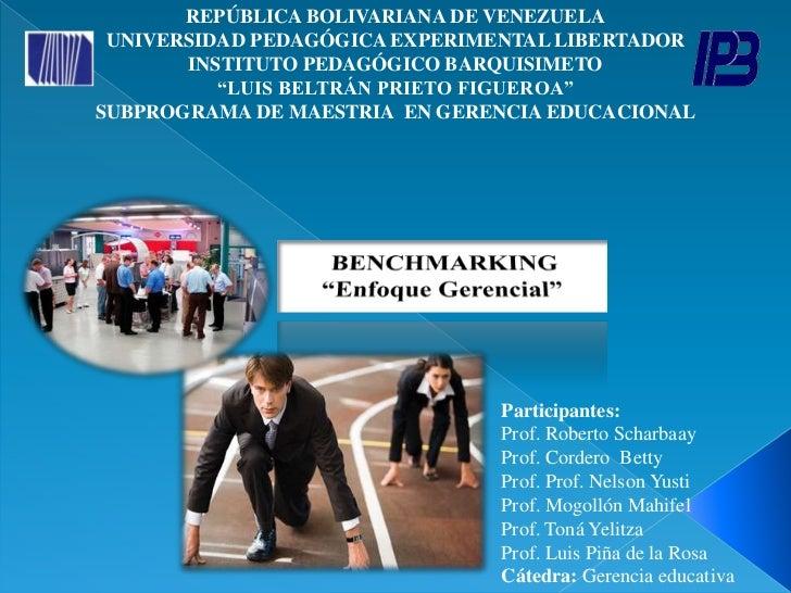 REPÚBLICA BOLIVARIANA DE VENEZUELA UNIVERSIDAD PEDAGÓGICA EXPERIMENTAL LIBERTADOR       INSTITUTO PEDAGÓGICO BARQUISIMETO ...