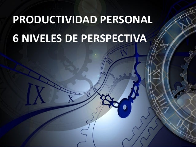 1 PRODUCTIVIDAD PERSONAL 6 NIVELES DE PERSPECTIVA