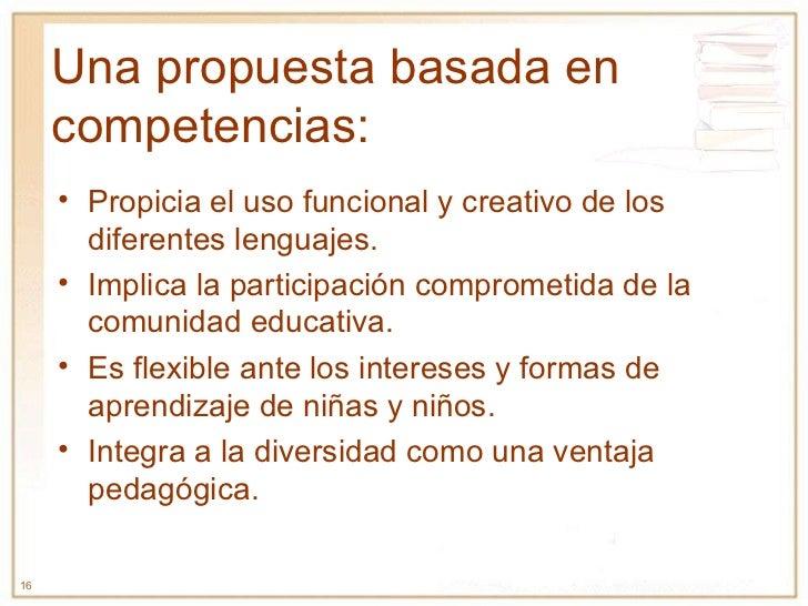 Una propuesta basada en competencias: <ul><li>Propicia el uso funcional y creativo de los diferentes lenguajes. </li></ul>...