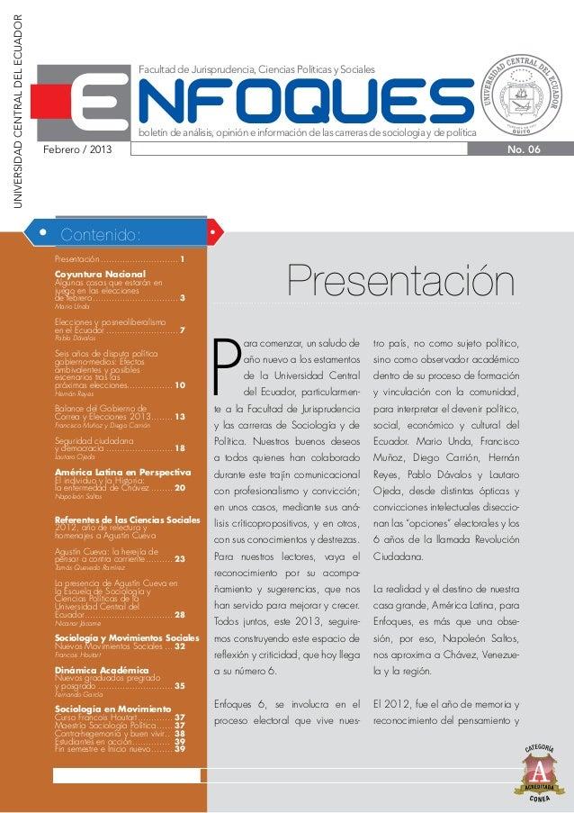 UNIVERSIDAD CENTRAL DEL ECUADOR                                                                Facultad de Jurisprudencia,...