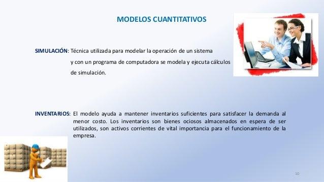 MODELOS CUANTITATIVOS SIMULACIÓN: Técnica utilizada para modelar la operación de un sistema y con un programa de computado...