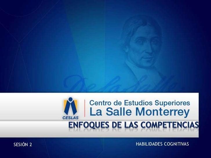Enfoques de las competencias<br />HABILIDADES COGNITIVAS<br />SESIÓN 2<br />