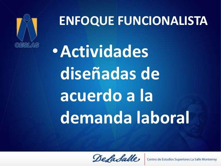 ENFOQUE FUNCIONALISTA<br />Énfasis en el contexto externo<br />