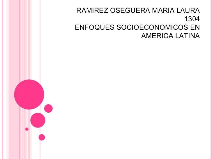 RAMIREZ OSEGUERA MARIA LAURA                         1304ENFOQUES SOCIOECONOMICOS EN              AMERICA LATINA