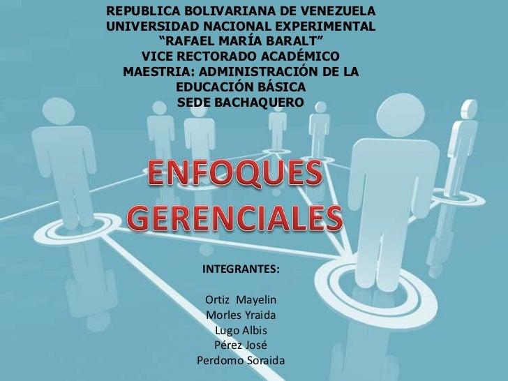 "REPUBLICA BOLIVARIANA DE VENEZUELAUNIVERSIDAD NACIONAL EXPERIMENTAL      ""RAFAEL MARÍA BARALT""    VICE RECTORADO ACADÉMICO..."