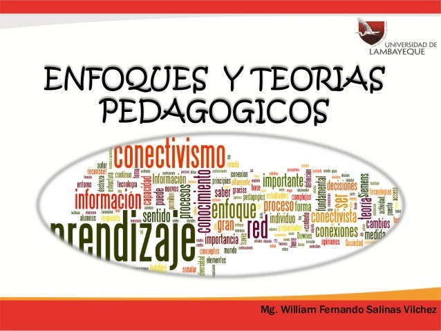 ENFOQUES Y TEORIAS PEDAGOGICOS Mg. William Fernando Salinas Vilchez