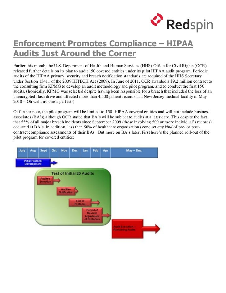 Enforcement Promotes Compliance – HIPAAAudits Just Around the CornerEarlier this month, the U.S. Department of Health and ...
