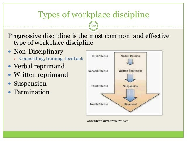 discipline in the workplace pdf