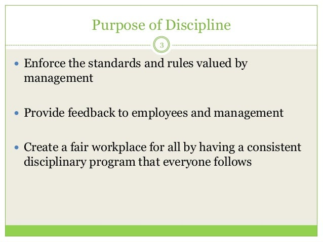 negative discipline in the workplace Positive discipline frees the work environment of negativity while addressing issues that affect your team this approach prevents employees from feeling as if you are criticizing or picking on them while positive discipline takes a patient hand, it is a constructive way of enforcing behaviors in the workplace.