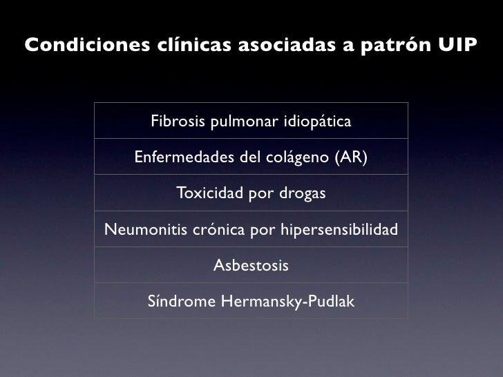 "Neumonia Intersticial no específica    ""Descripción patológica de una  neumonia intersticial crónica  que carece de histolo..."