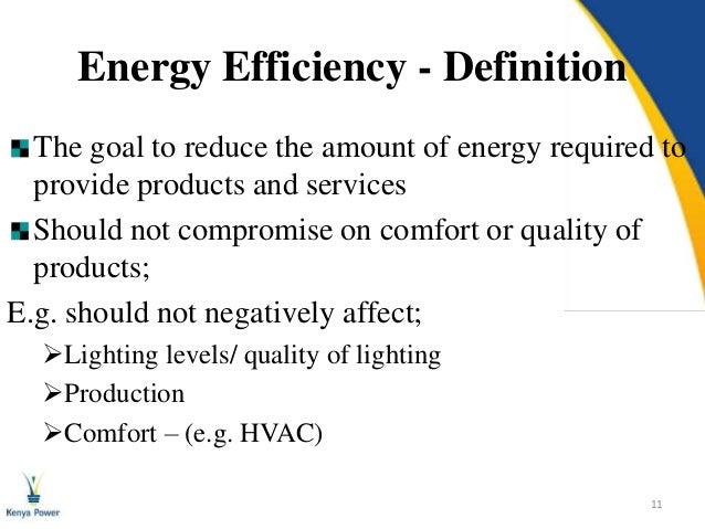 Energy Efficiency: A kenya power perspective