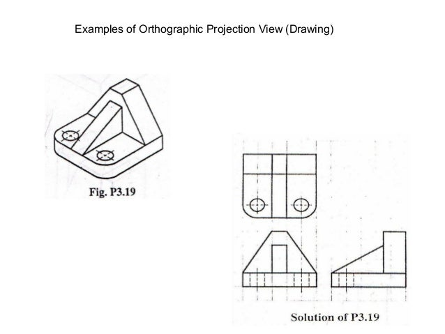 Basic mechanical engineering drawing examples of orthographic projection view drawing malvernweather Choice Image