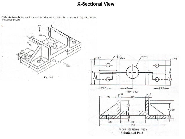 how to draw auxiliary view engineering drawing