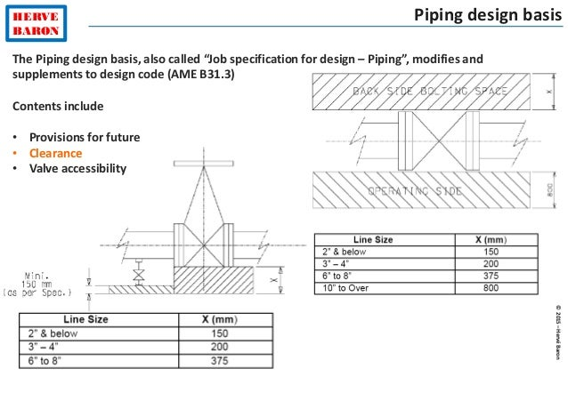 """©2015–HervéBaron HERVE BARON Piping design basis The Piping design basis, also called """"Job specification for design – Pipi..."""