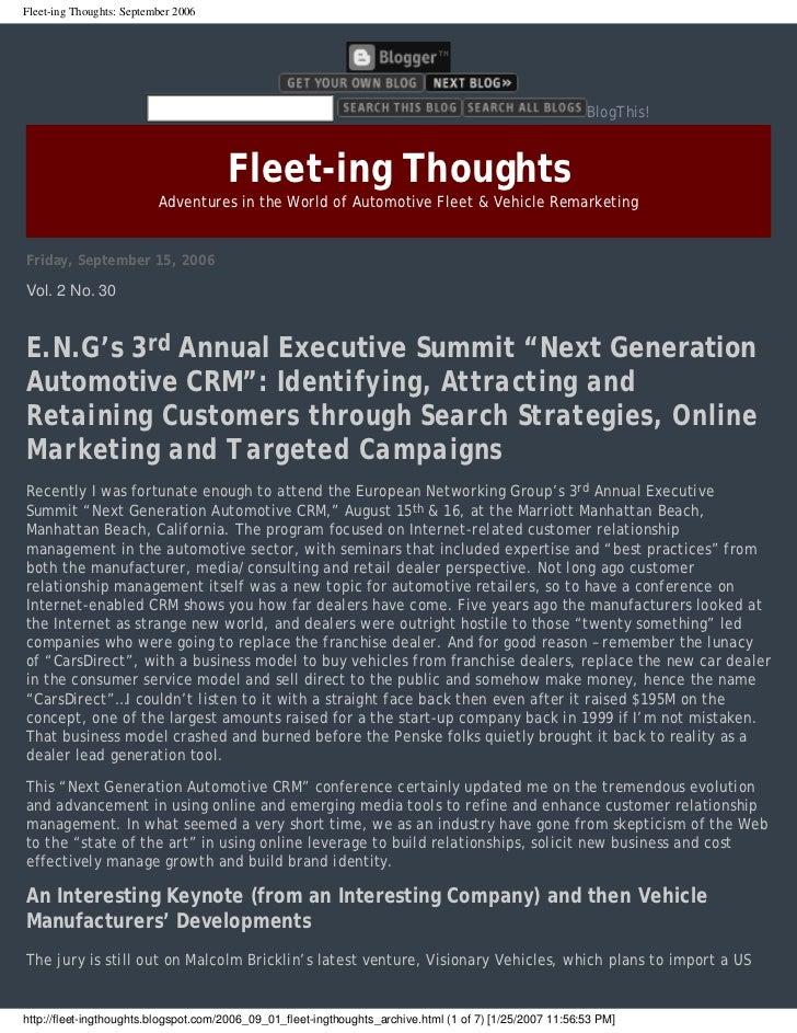 Fleet-ing Thoughts: September 2006                                                                                        ...