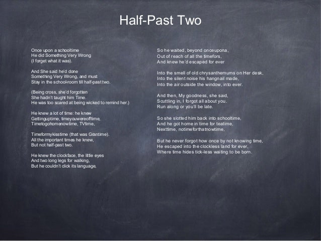 Eng Half Past Two