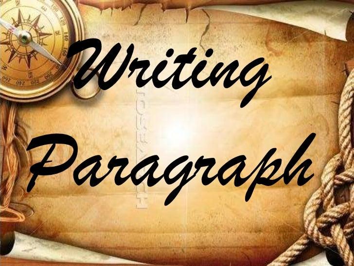 WritingParagraph