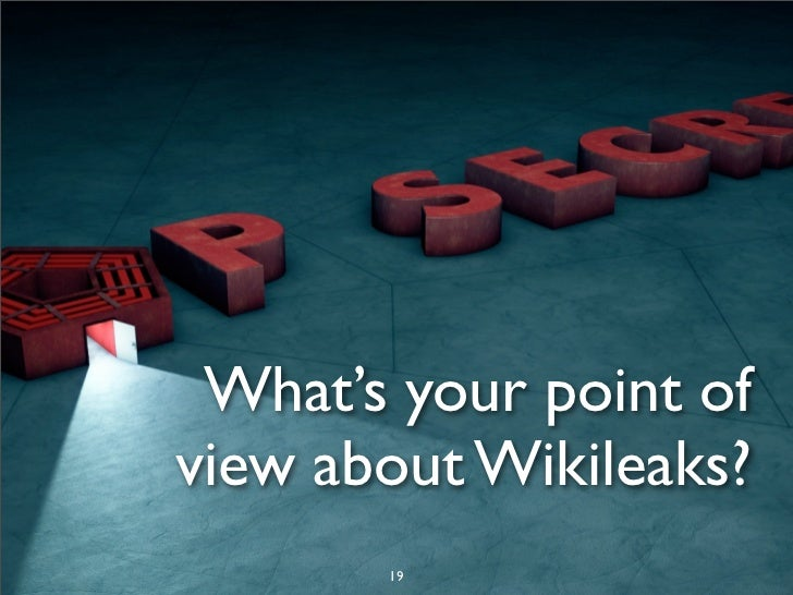 ethics of wikileaks Following the wikileaks release of the partial set, fisher decided to  and  people raising ethics questions about what it has chosen to release.