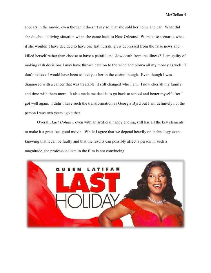 The Holiday Movie Essay - image 6