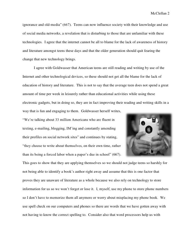 argumentative essay on social networking