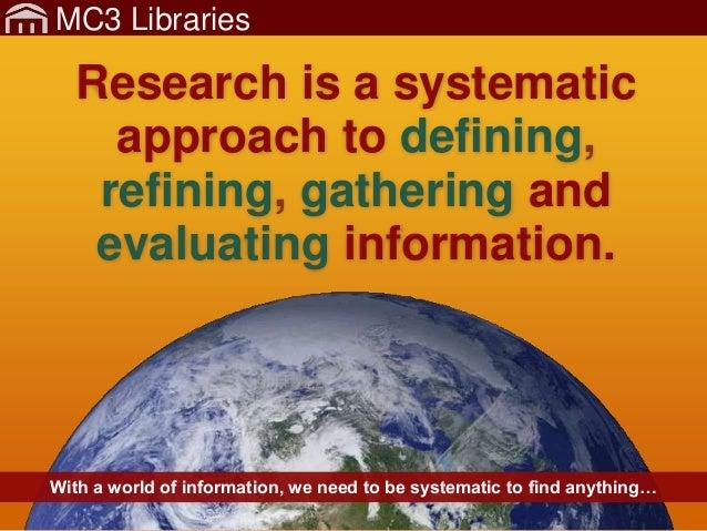 MC3Lib-Research-1-GettingStartedKeywords Slide 3