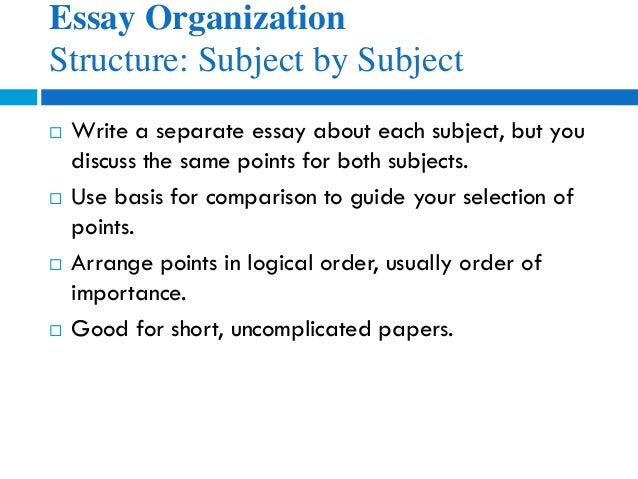 eng how to write compare and contrast essays essay organization structure subject by subject