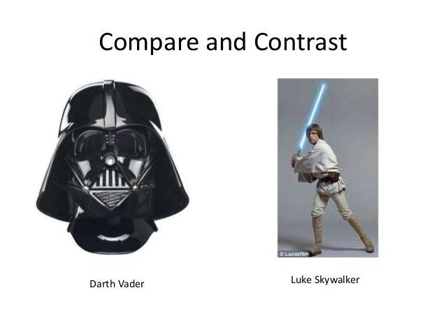 Compare and Contrast Darth Vader Luke Skywalker