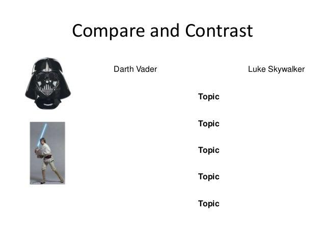 Compare and Contrast Darth Vader Luke Skywalker Topic Topic Topic Topic Topic