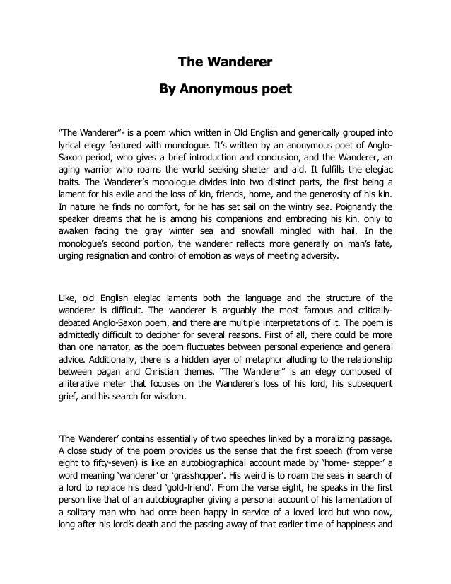 the wanderer anglo saxon poem